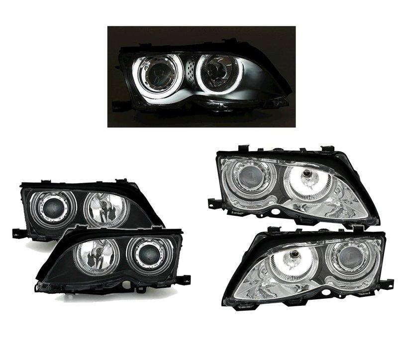 Xenon look Scheinwerfer mit CCFL Angel Eyes für BMW 3 Serie E46