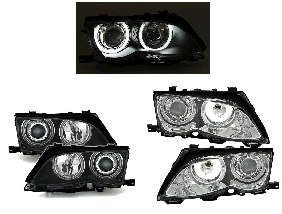 Xenon Look Scheinwerfer Mit Ccfl Angel Eyes Fur Bmw 3 Serie E46 Www Dejavucars Eu