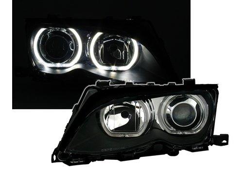 DEPO Xenon Look Koplampen met LED Angel Eyes voor BMW 3 Serie E46