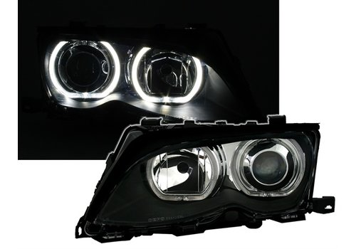 DEPO Xenon look Scheinwerfer mit LED Angel Eyes für BMW 3 Serie E46