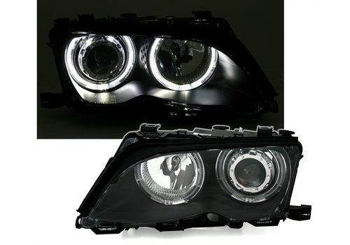 Eagle Eyes Xenon look Headlights with LED Angel Eyes for BMW 3 Series E46