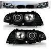 Eagle Eyes Xenon Look Koplampen met CCFL Angel Eyes voor BMW 3 Serie E46