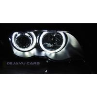 Xenon look Scheinwerfer mit LED Angel Eyes für BMW 3 Serie E46