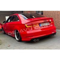 S3 Look Sport Auspuffanlage für Audi A3 8V Limousine
