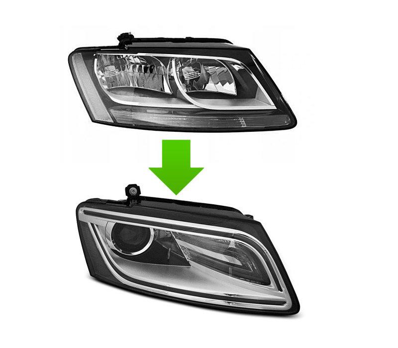 Bi Xenon Look LED Headlights for Audi Q5 8R Facelift