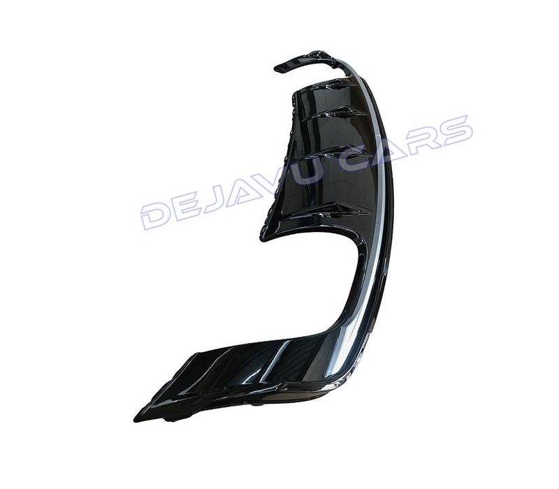 S3 Look Diffuser Black Edition + Uitlaat systeem voor Audi A3 8V (S line achterbumper)