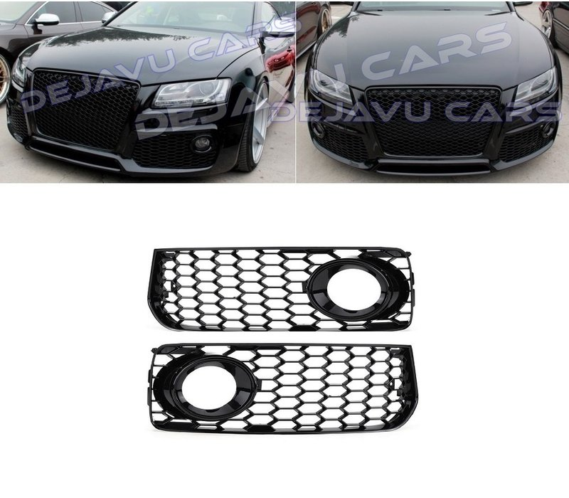 RS Look Fog Light Grilles for Audi A5 / S5 / S line