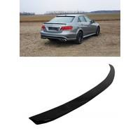 Glossy black E63 AMG Look Tailgate spoiler lip for Mercedes Benz E-Class W212