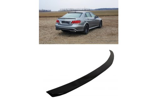 OEM LINE Glossy black E63 AMG Look Tailgate spoiler lip for Mercedes Benz E-Class W212