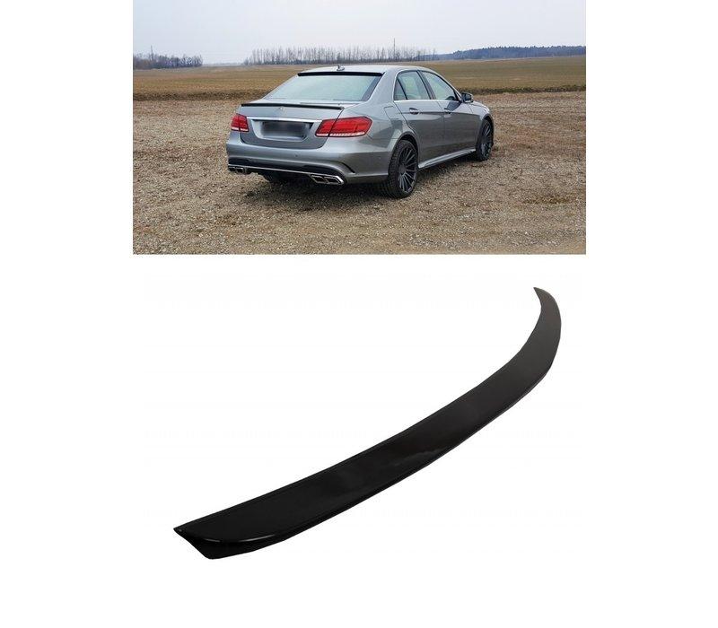 Glans Zwart E63 AMG Look Achterklep spoiler lip voor Mercedes Benz E-Klasse W212