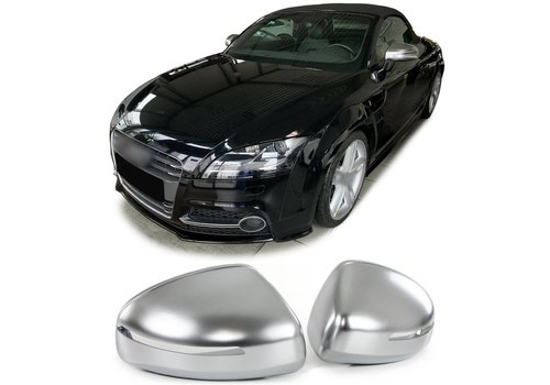 OEM LINE® Matt Chrome Mirror Caps for Audi TT 8J