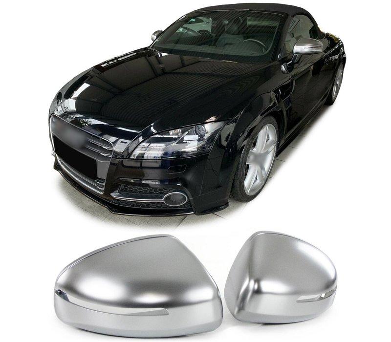 Matt Chrome Mirror Caps for Audi TT 8J