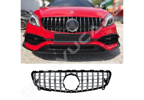 OEM LINE GT-R Panamericana Look Front Grill for Mercedes Benz A-Class W176 Facelift