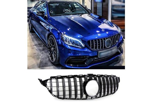 OEM LINE GT-R Panamericana Look Front Grill  for Mercedes Benz C-Class W205