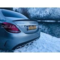 Glans zwart AMG Look Achterklep spoiler lip voor Mercedes Benz C-Klasse W205