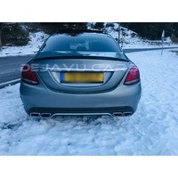 Glossy black AMG Look Tailgate spoiler lip for Mercedes Benz C-Class W205
