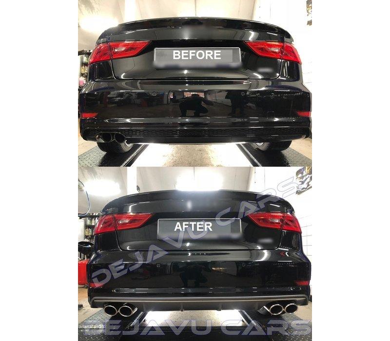 S3 Look Diffusor + Sport Auspuffanlage für Audi A3 8V S line