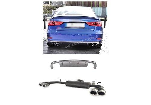OEM LINE® S3 Look Diffuser + Sport Uitlaat systeem voor Audi A3 8V S line