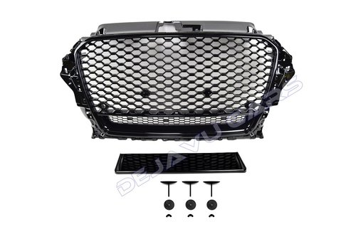 OEM LINE RS3 Quattro Look Front Grill voor Audi A3 8V