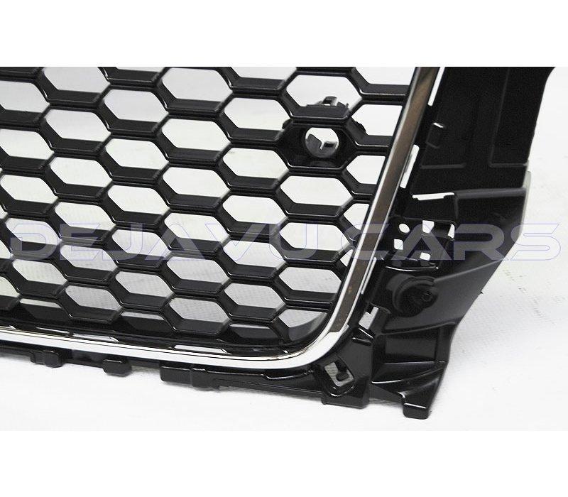 RS3 Look Kühlergrill Glänzend schwarz Piano Black Edition für Audi A3 8V, S-line, S3