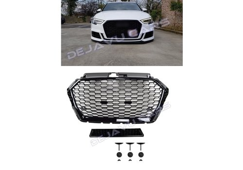 OEM LINE RS3 Look Front Grill  Black Edition for Audi A3 8V