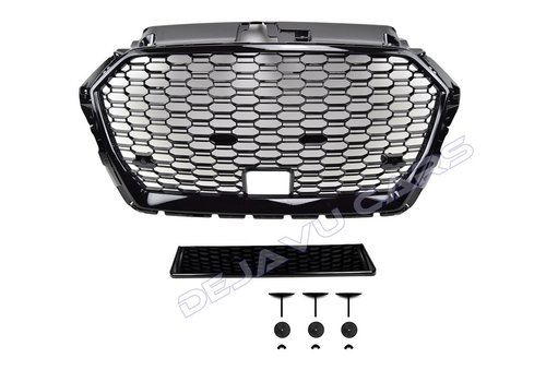 OEM LINE RS3 QUATTRO Look Front Grill voor Audi A3 8V met ACC