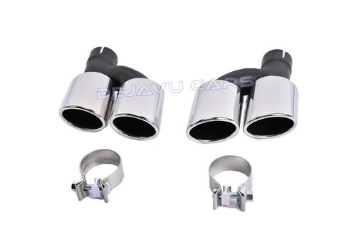 OEM LINE C63 AMG Look Exhaust Tail pipes set for Mercedes Benz