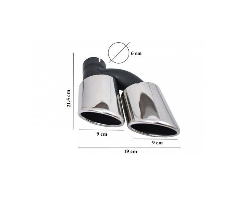 C63 AMG Look Exhaust Tail pipes set for Mercedes Benz