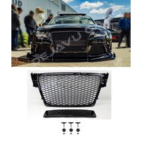 RS4 Look Front Grill Black Edition voor Audi A4 B8