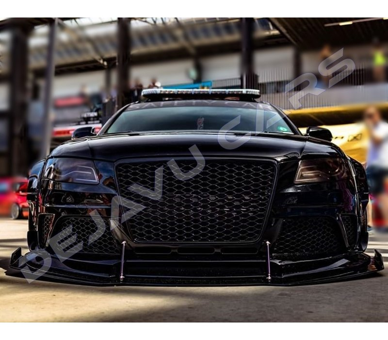 RS4 Look Front Grill Black Edition for Audi A4 B8