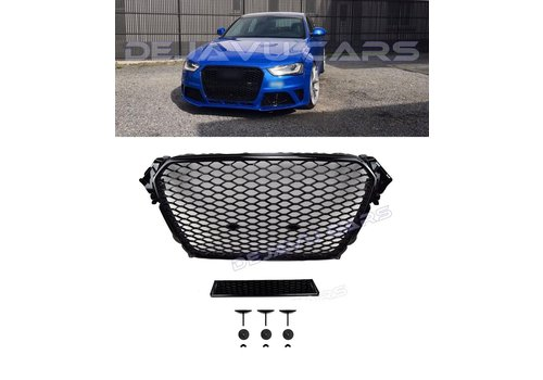 OEM LINE RS4 Look Front Grill Black Edition voor Audi A4 B8.5