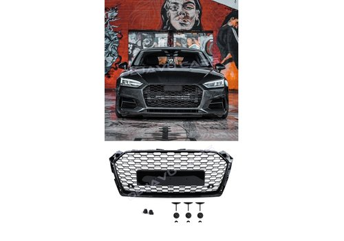 OEM LINE RS5 Look Front Grill Black Edition voor Audi A5 B9