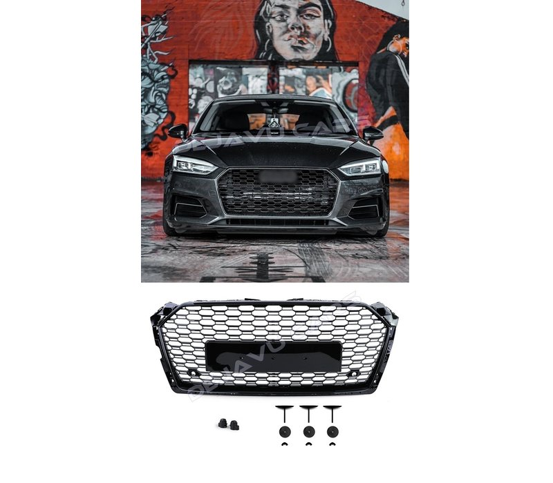 RS5 Look Front Grill Black Edition for Audi A5 B9