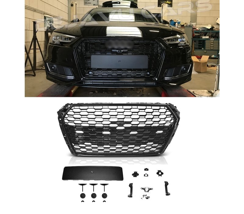 RS4 Look Front Grill voor Audi A4 B9