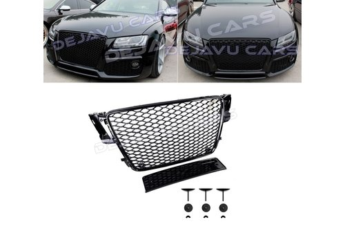 OEM LINE RS5 Look Front Grill Black Edition for Audi A5 B8
