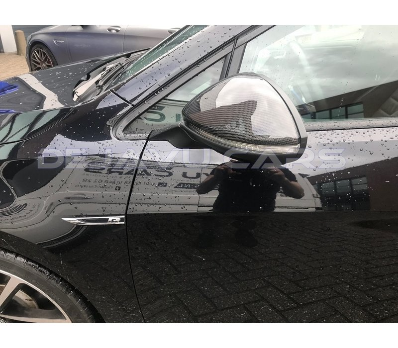 GTI TCR Look Carbon spiegelkappen voor Volkswagen Golf 7