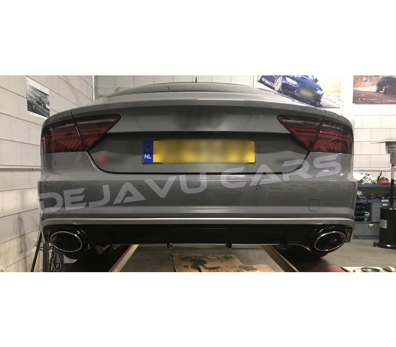 RS7 Look Diffuser + Exhaust tail pipes for Audi A7 4G