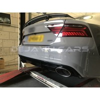 RS7 Look Diffuser + Exhaust tail pipes for Audi A7 4G S line / S7