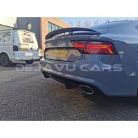 RS7 Look Diffuser + Uitlaat sierstukken voor Audi A7 4G S line / S7