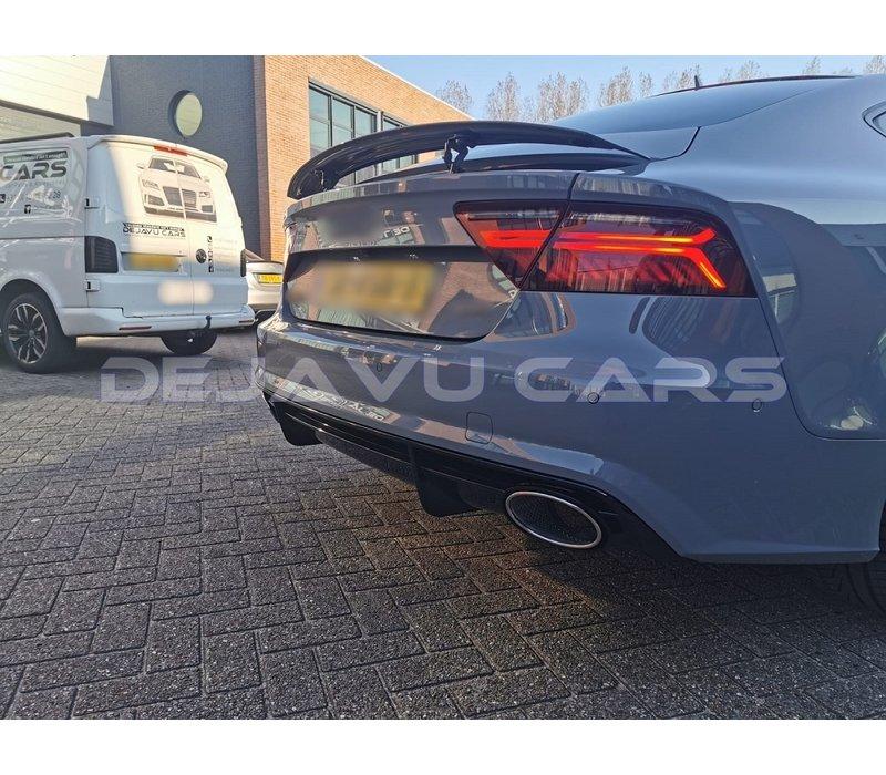 RS7 Look Diffusor + Auspuffblenden für Audi A7 4G S line / S7