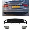 OEM LINE RS7 Look Diffusor + Auspuffblenden für Audi A7 4G S line / S7