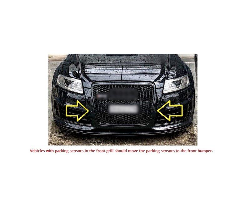 RS6 Look Kühlergrill Black Edition für Audi A6 C6 4F
