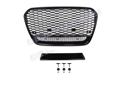 OEM LINE RS6 Look Front Grill Black Edition  voor Audi A6 C7 4G
