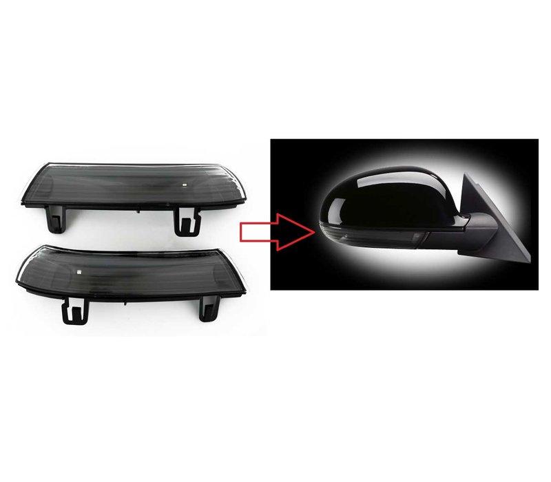 Black Edition Aussenspiegel LED Blinker für Volkswagen, Skoda & Seat