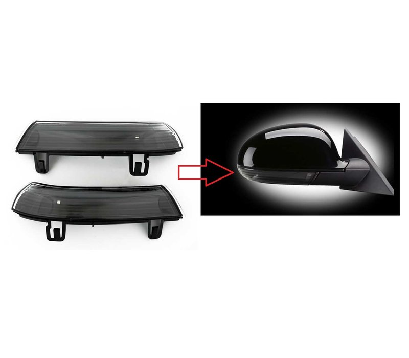 Black Edition Side Mirror LED Turn Signal for Volkswagen, Skoda & Seat