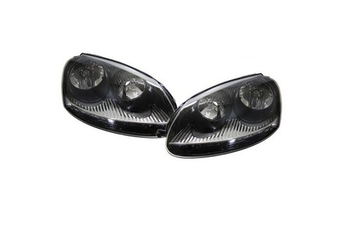 DEPO GTI Look Headlights Black for Volkswagen Golf 5 & Jetta 3