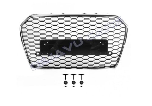 OEM LINE RS6 Look Front Grill voor Audi A6 C7.5 Facelift