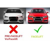 RS3 Look Kühlergrill Black/Chrome für Audi A3 8V