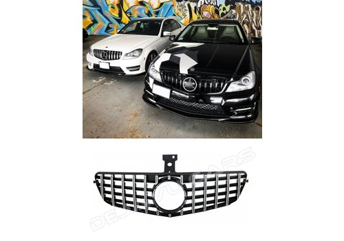 OEM LINE GT-R Panamericana Look Front Grill for Mercedes Benz C-Class W204