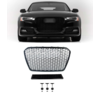 OEM LINE® RS5 Look Front Grill Black Edition voor Audi A5 B8